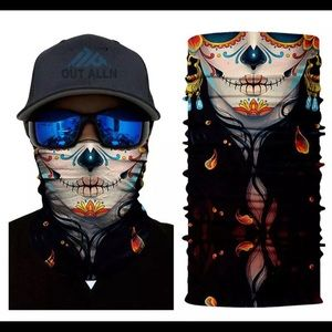 Day of the Dead gaitor face mask